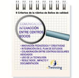Rúbrica para un proyecto de calidad: 3. Comunicación e interacción entre centros socios