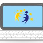 ordenador con logo eTwinning
