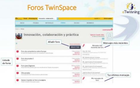 Gestión de foros en el TwinSpace