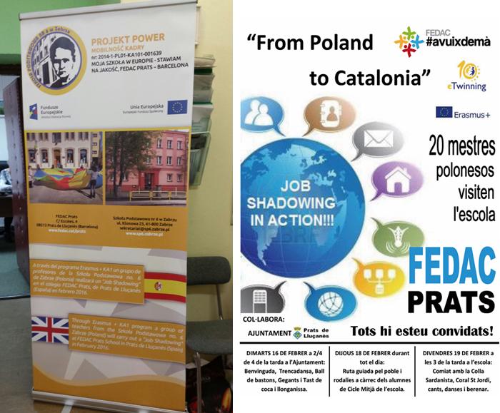 Banners de las respectivas visitas