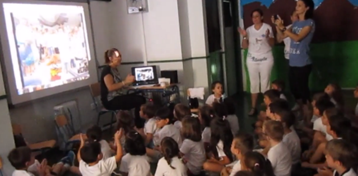 videoconferencia proyecto Reading Community