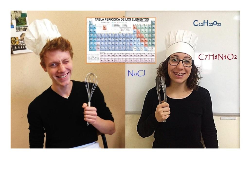 alumnos disfrazados de cocineros