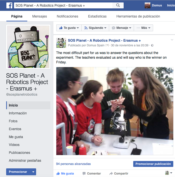 grupo Facebook de proyecto