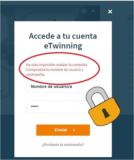 Cómo recuperar las claves de acceso a eTwinning