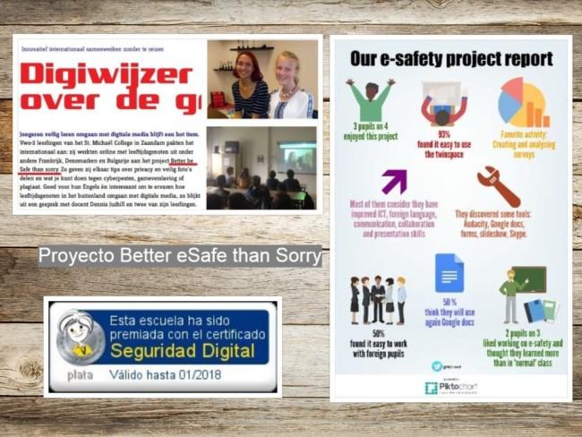 Difusión proyecto Better eSafe than Sorry