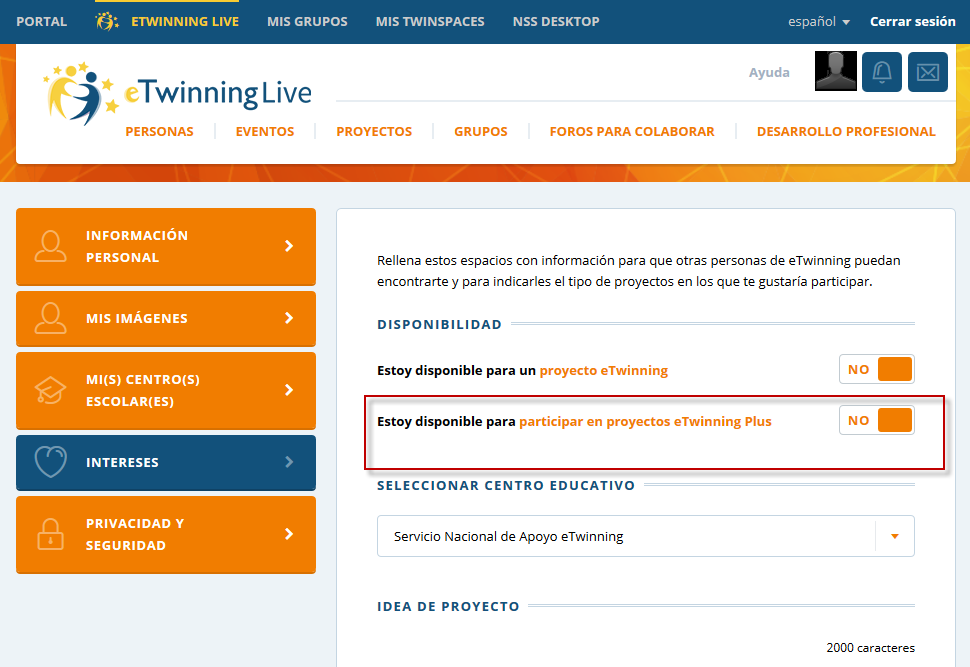 disponibilidad eTwinning Plus