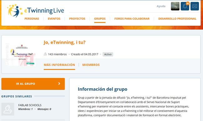 grupo, Jo eTwinning