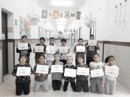 Alumnos del proyecto Origami