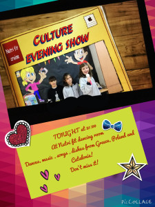 Culture evening show poster