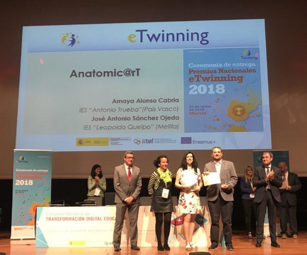 Ceremonia de entrega de los premios nacionales etwinning - Ies antonio trueba ...