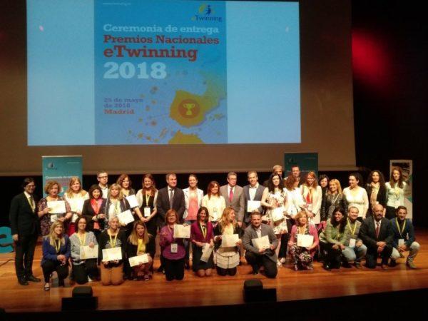 Ceremonia de entrega de los Premios Nacionales eTwinning 2018