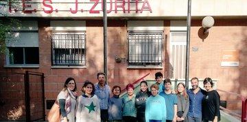 Visita al IES Jerónimo Zurita de Zaragoza. eTwinning con los asesores de formación