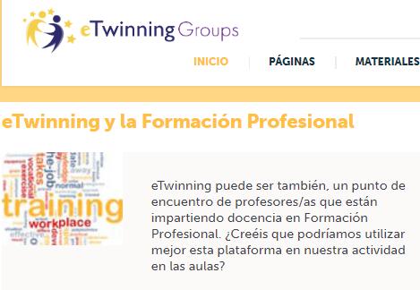 Grupo eTwinning y la Formación Profesional