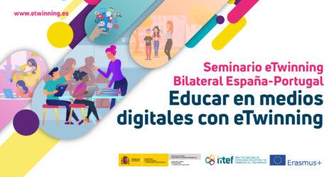 """Seminario online """"Educar en medios digitales con eTwinning"""". 24 Y 25 de noviembre"""