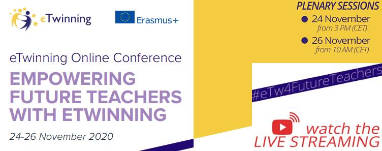 "Conferencia temática online eTwinning para docentes universitarios y futuros docentes: ""Empowering future teachers with eTwinning"""